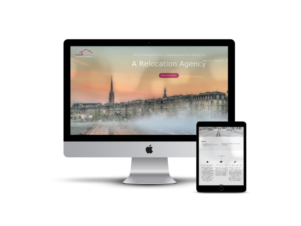 First Start in Bordeaux - Website